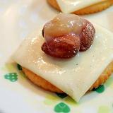 チーズとアーモンドとミルクジャムの焼きリッツ