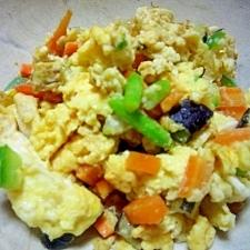 干し野菜で卵とじ