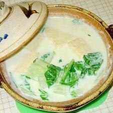 白菜と豆腐の無脂肪ミルク鍋