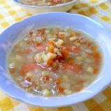 野菜とウインナーの食べるスープ(レンズ豆入り)