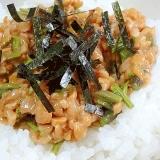 朝食に☆ とろっとろ「たたきワラビ納豆」
