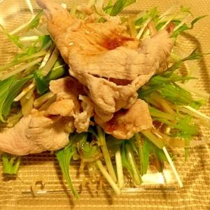 水菜と豚しゃぶサラダ
