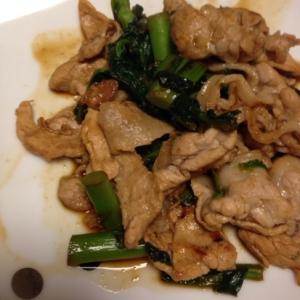 豚肉とかき菜の炒め物