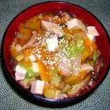 野菜たっぷり!豆腐のあんかけ丼
