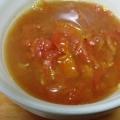 たっぷりトマトの簡単スープ