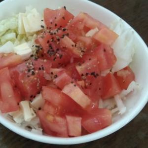 白菜とカマンベールとトマトのサラダ