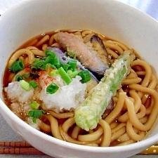 夕飯残りの天ぷらリメイク!簡単天ぷらうどん♪