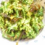 菜の花の昆布の佃煮と辛し和え