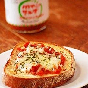 サルサソースでピザトースト