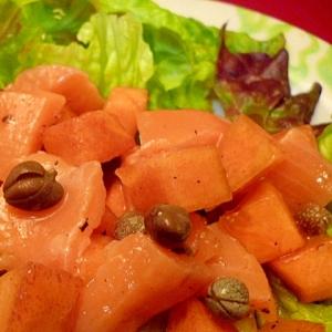 柿とサーモンのマリネサラダ