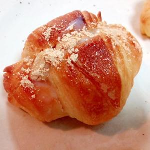 イチジクジャムとピーナッツときな粉のクロワッサン