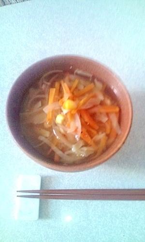 具沢山でヘルシーな野菜スープ♪