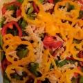 キャベツとパプリカとハムのサラダ