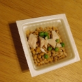 鶏肉と枝豆の納豆♡