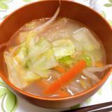 食べ過ぎた時に!春雨タンメン風スープ