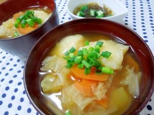 モチモチ♪根菜と白菜たっぷりすいとん