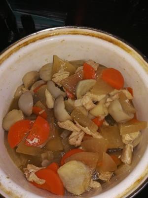 里芋と鶏ささみの味噌風煮物
