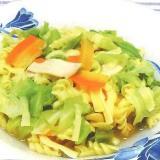 キャベツとマカロニの温サラダ