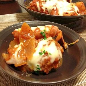 リメイク☆ストウブで野菜ゴロゴロ煮込みハンバーグ