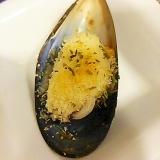 ムール貝のマヨパン粉焼き