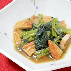 小松菜とさつま揚げの煮物