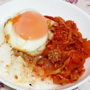 缶詰めで簡単♪しめじとひき肉のトマト煮込み