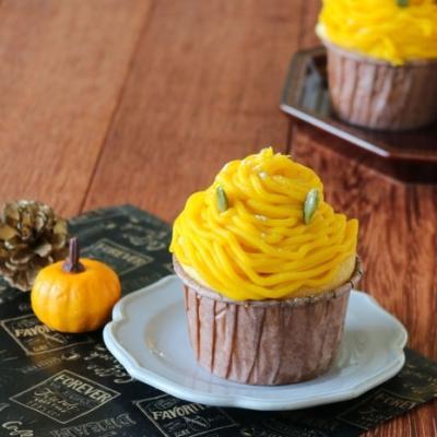 ハロウィンにどうぞ!かぼちゃのモンブランマフィン【頑張りすぎない家族ごはん#8】