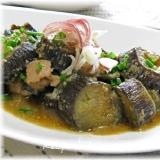 美味しい夏野菜!豚肉とナスの味噌煮込み
