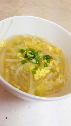 簡単中華!(^^)もやし入り卵のとろみスープ♪