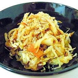 レンジで簡単☆野菜ミックスでキムチ味のチャプチェ♪