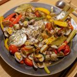 本格鯛のアクアパッツァ♪野菜も取れて美味しいです!