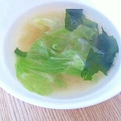 レタスとわかめのスープ