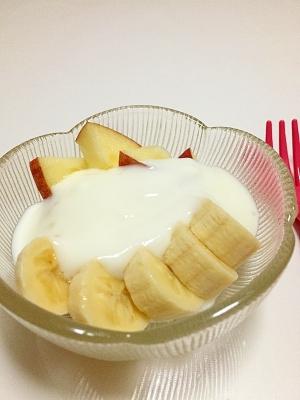 食欲ない時♪デザートなどにりんごバナナヨーグルト♪