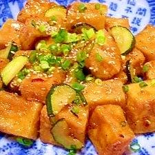 揚げ高野豆腐のコッテリ炒め