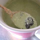 抹茶&甘納豆のホットヨーグルト