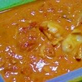 北寄貝のトマトクリームソース