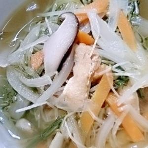 水菜&玉ねぎのスープ