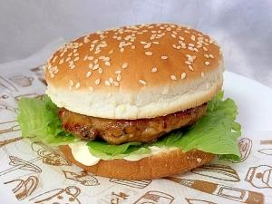ポークパテで☆てりやきハンバーガー