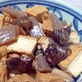ほっこり和む♡厚揚げと椎茸と蒟蒻の煮物