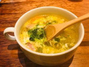 茅乃舎の野菜だしで、あったかかき卵汁☆