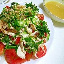 鶏と野菜の酢みそサラダ