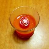 トマトジュースでトマトゼリー