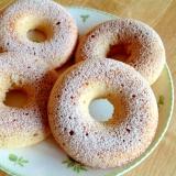 シナモンシュガー掛けバニラ焼きドーナツ