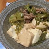 春キャベツと豆腐の煮物