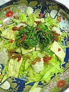 鱧と生湯葉の梅じゃこサラダ