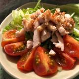 鶏ハムの棒棒鶏風サラダ