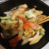 魚肉ソーセージのちゃんちゃん焼き風
