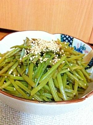 芋の茎きんぴら〜下ごしらえから(^^)