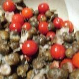 [お手伝いレシピ]むかごとトマトのドレッシング和え