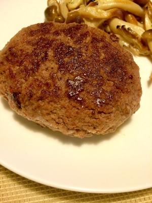 スパイシー☆牛ひき肉ステーキ